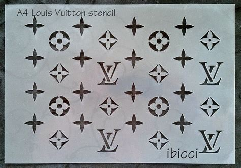 lv pattern stencil ibicci louis vuitton cake and cookie stencils