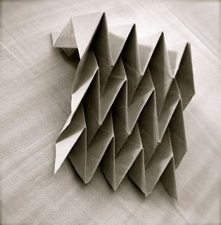 Paper Folding Design - learning with paper folding miura ori patterns