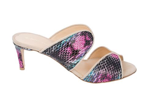 %name Multi Colored Sandal Heels   Authentic Gina Python Multi Colored Swarovski Crystals Sandals Heels   eBay