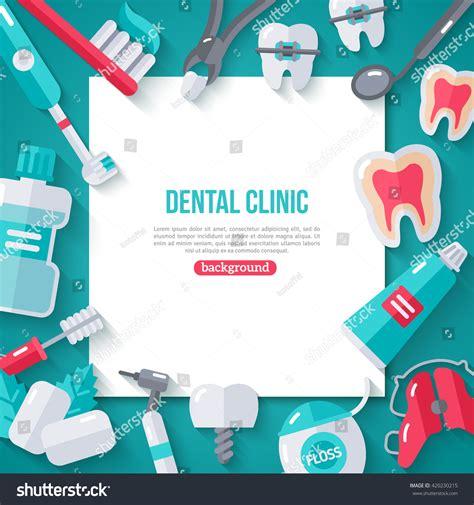 banner shutterstock dentistry banner flat icons vector illustration stock