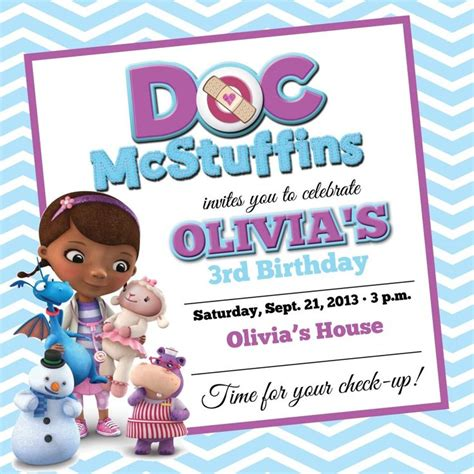 doc mcstuffins birthday card template 1000 images about fact sheets and flyers on