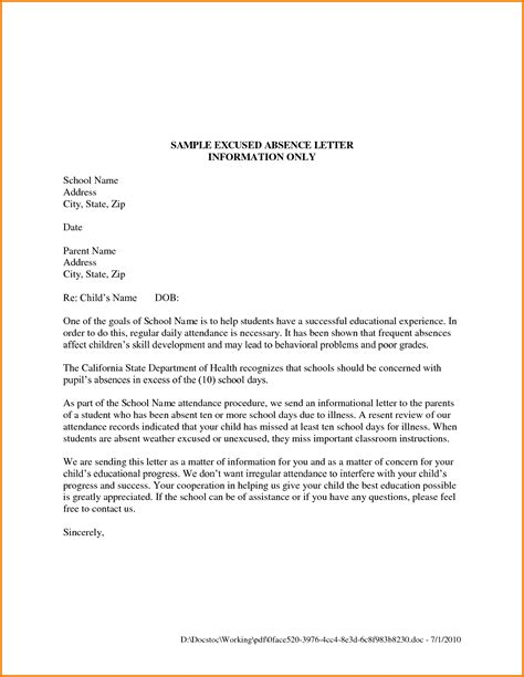 College Letter Prom 5 Formal Letter Format For School Financial Statement Form