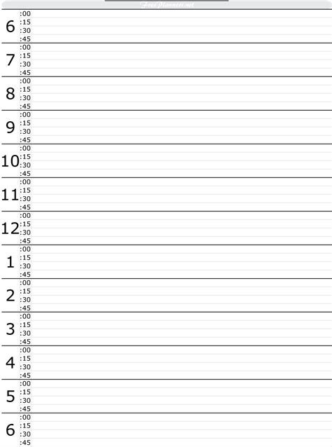 free printable hourly planner 2015 9 best images of printable daily hourly planner free