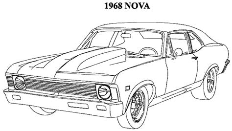 Classic Cars Coloring Pages For Adults | muscle car coloring pages az coloring pages classic cars