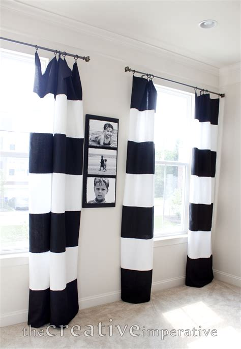 black and white horizontal striped curtains the creative imperative black and white horizontal