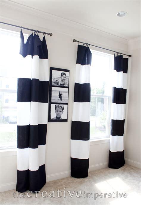 black and white horizontal striped drapes the creative imperative black and white horizontal