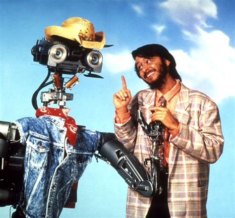 film robot short circuit aziz anzari turns out the indian guy in short circuit 2