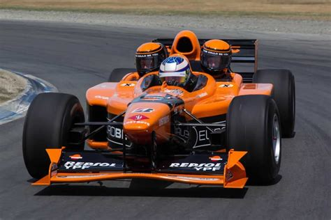 this 3 seater orange arrows formula 1 car is for sale