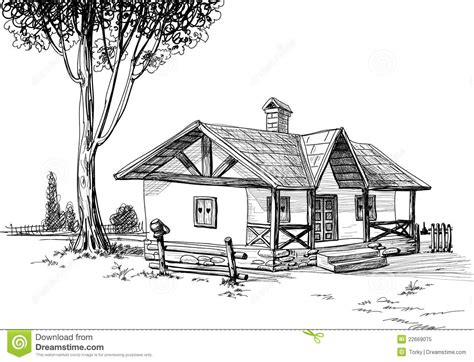 house drawing stock images royalty free images vectors house sketch stock vector illustration of freehand