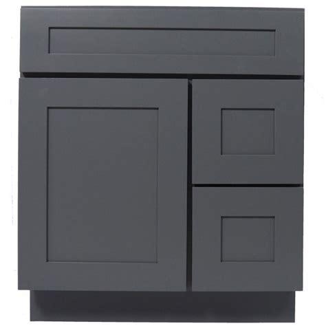 30 inch gray shaker single sink bathroom vanity cabinet l