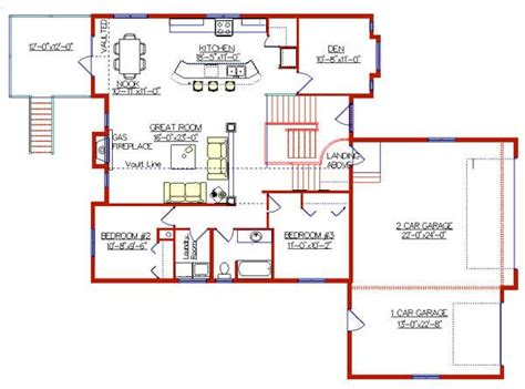 bi level floor plans modified bi level with 3 car garage 2004135 by e designs