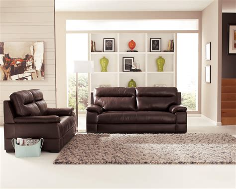 beautiful room with brown leather sofas most popular home