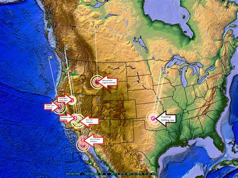 volcanoes in the united states map 5 13 2016 west coast united states volcanic earthquake