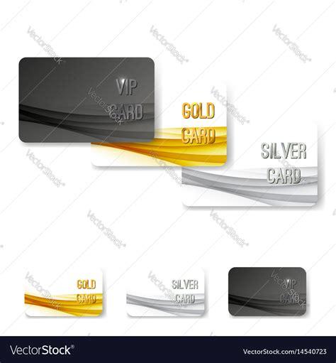 vip membership card template free vip status membership card template set royalty free vector