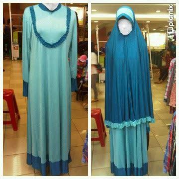 Serut Kombinasi Jersey by Jubah Akhwat Gamis Anak Muslimah Set Gamis Jersey