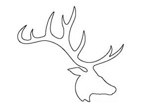 elk head pattern use the printable outline for crafts
