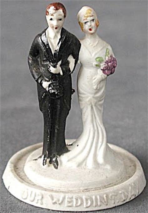 deco wedding cake toppers deco groom wedding cake topper at silversnow antiques and more