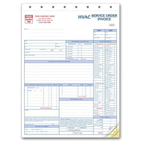 hvac receipt template hvac invoice forms hardhost info