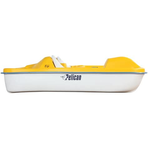 pelican inflatable boats pelican fuji pedal boat yellow white 206264 small