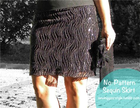 simple no pattern skirt sequin mini skirt diy fashion easy to sew no pattern needed