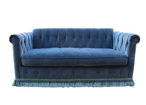 fit for a blue velvet button tufted sleeper sofa