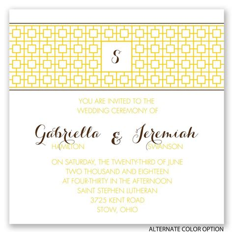 Chic Wedding Invitations by Geo Chic Invitation Invitations By