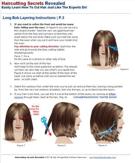 step by step hair cutting instructions haircutting tutorial ebook products haircutting secrets