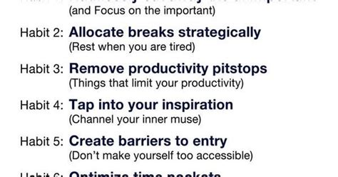 7 time management best practices of highly productive 8 habits of highly productive people professional growth