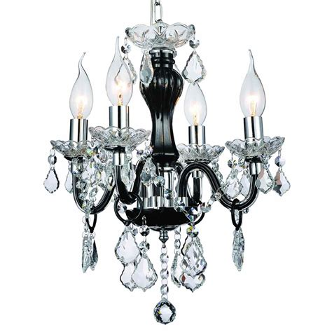 Mini Black Chandeliers With Crystals Brizzo Lighting Stores 14 Quot Traditional Mini Chandelier Jet Black Frame