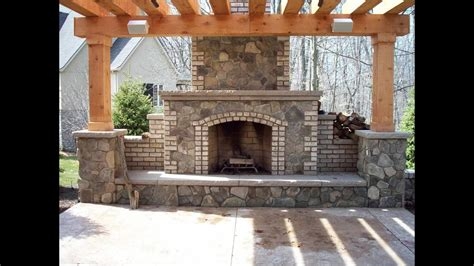 pergola with fireplace fireplaces with pergola