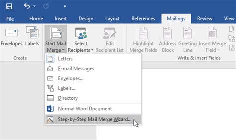 perintah awal membuat mail merge tutorial membuat mail merge di word bastian info blog