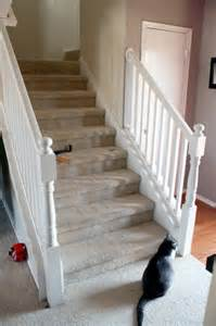 How To Renovate Wooden Stairs by Beautiful Budget Stair Remodel From Carpet To Wood Treads