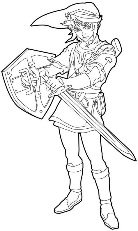 link coloring pages online free printable zelda coloring pages for kids