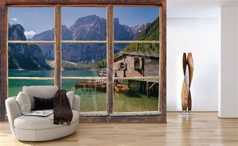 Fototapete Fenster Garten by Fototapeten Fenster Gr 246 223 E Der Wand Myloview De