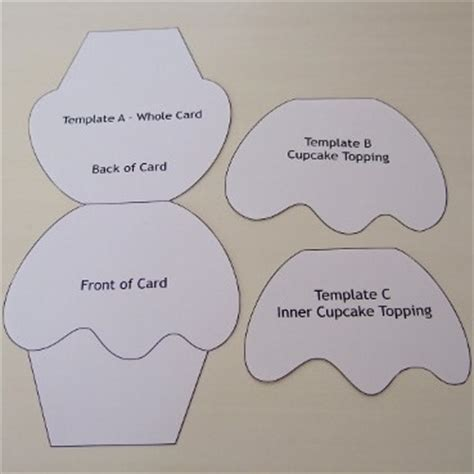cupcake shaped card template cupcake card template and tutorial