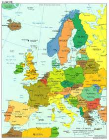 Countries In Europe Map by Map Of Europe Countries Continental Region The Maps Of