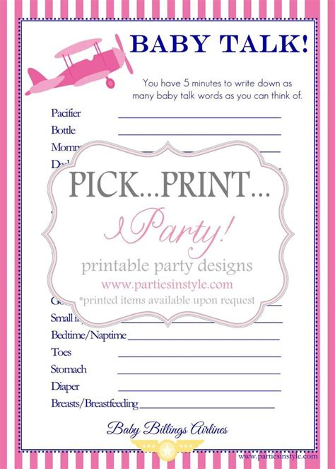 printable baby shower games in spanish baby shower game baby talk printable diy we will need