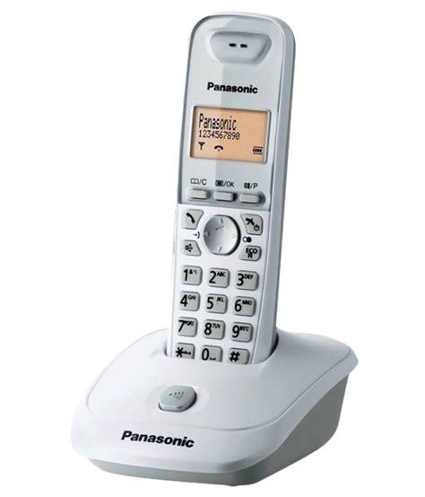Telepon Wireless Panasonic Kxtg 2511 buy panasonic kxtg3551sxw cordless landline phone white