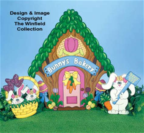 easter color posters bunny s bakery woodcraft pattern