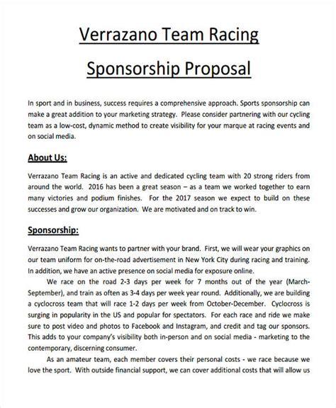 Racing Sponsorship Proposal 7 Free Racing Sponsorship Proposal Template Joblettered Amazing Cycling Sponsorship Template