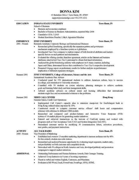 Resume Edge by Bullet Point Resume Template Http Www Resumeedge