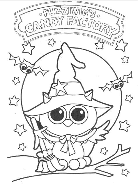 owl halloween candy coloring pages coloring pages