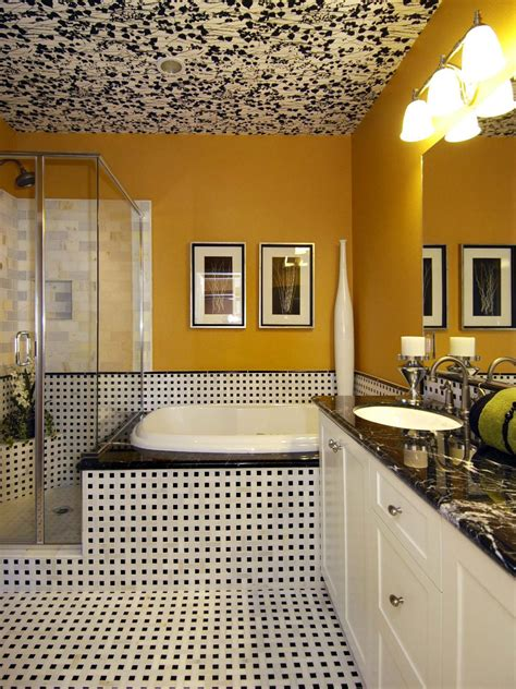 Yellow Bathroom Decorating Ideas by Master Bath With Unique Ceiling Treatment Hgtv