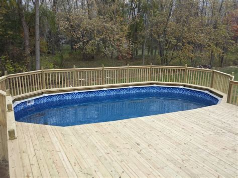 wooden pool decks wood composite above ground pool decks in buffalo ny