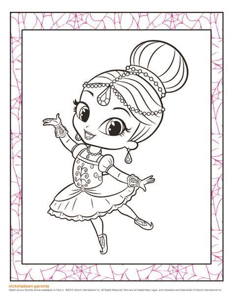 shimmer and shine coloring pages nick jr nick jr shimmer and shine coloring pages for toddlers