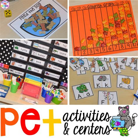 theme center themes pet themed activities and centers pocket of preschool