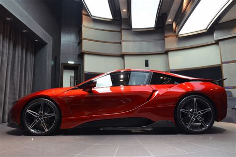 bmw i8 modified this custom lava red bmw i8 is dripping carscoops