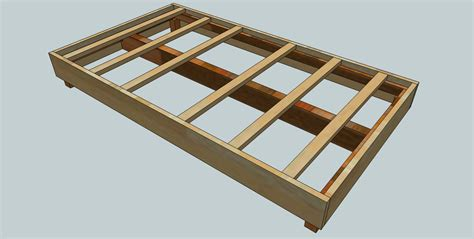 plans for a bed frame woodworking plans the kid s bed frame woodshopcowboy