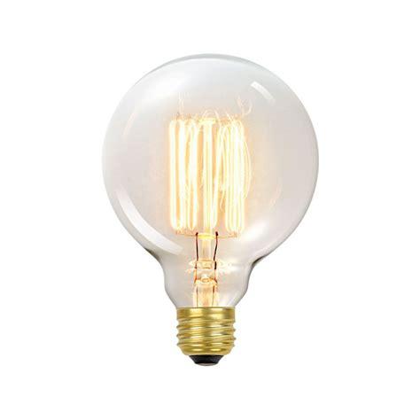 tungsten incandescent light bulb globe electric 01320 60w vintage edison g30 vanity