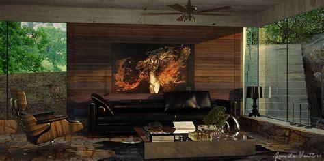 modern wood wall panels living room wood wall paneling black sofa pillow olpos design